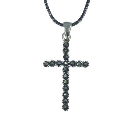 Ασημένιος 925 σταυρός μαρκασίτη