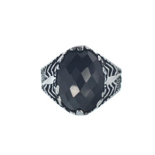 Ασημένιο 925 δαχτυλίδι με ζιργκόν