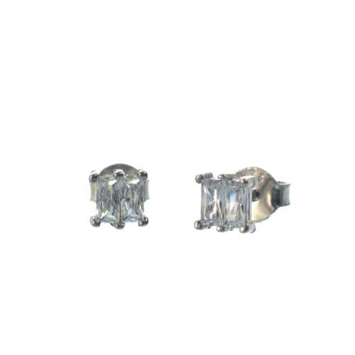 ασημένια καρφωτά σκουλαρίκια