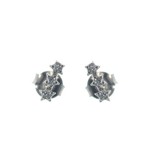 Ασημένια 925 σκουλαρίκια καρφωτά με αστέρια