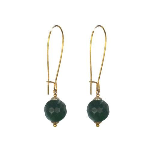 Επιχρυσωμένα 925 σκουλαρίκια με αχάτη