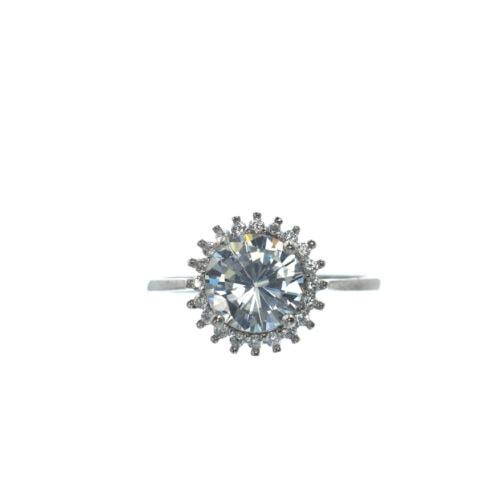Ασημένιο 925 μονόπετρο ζιργκόν δαχτυλίδι