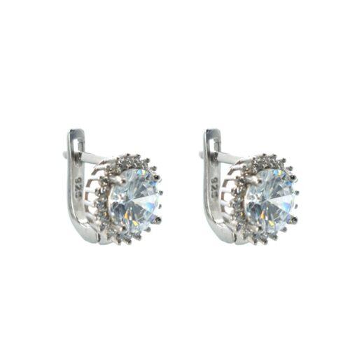 Ασημένια 925 κρεμαστά σκουλαρίκια με ζιργκόν