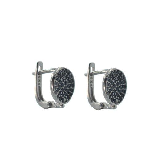 κρεμαστά σκουλαρίκια με μαύρες πέτρες
