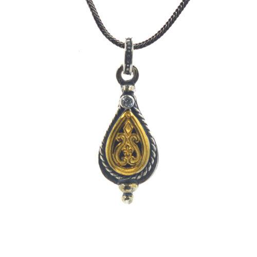 Ασημένιο 925 βυζαντινό κολιέ με ζιργκόν