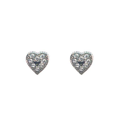 Ασημένια 925 καρφωτά σκουλαρίκια καρδιές