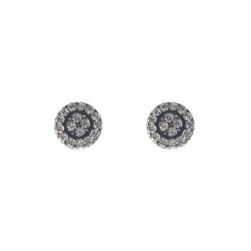 Ασημένια 925 καρφωτά σκουλαρίκια με ζιργκόν
