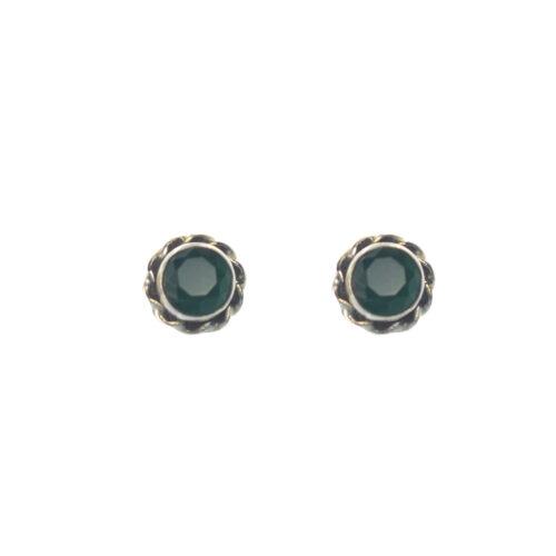 Ασημένια 925 καρφωτά σκουλαρίκια με αχάτη