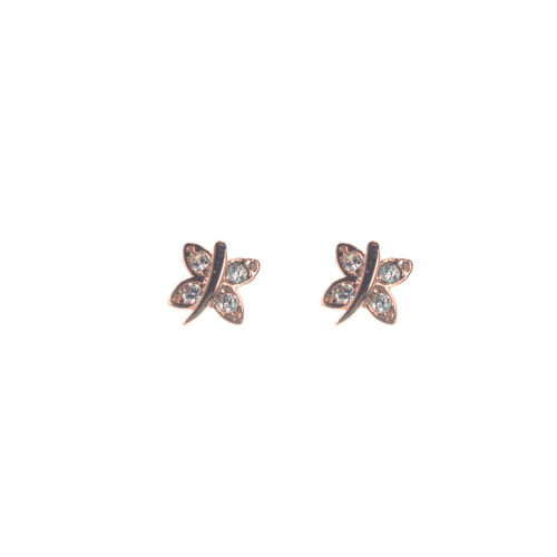 Ασημένια 925 καρφωτά σκουλαρίκια πεταλούδες