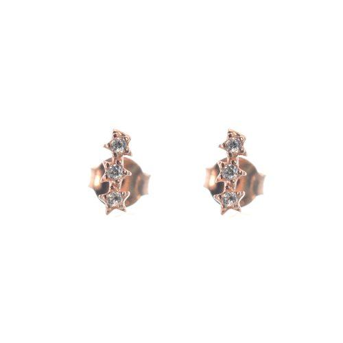 Ασημένια 925 καρφωτά σκουλαρίκια με αστέρια