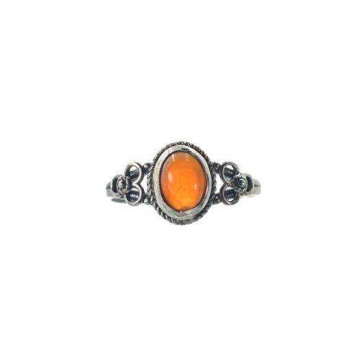 Ασημένιο 925 δαχτυλίδι με κιτρίνη