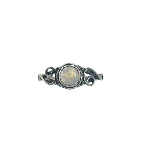 Ασημένιο 925 δαχτυλίδι με φεγγαρόπετρα