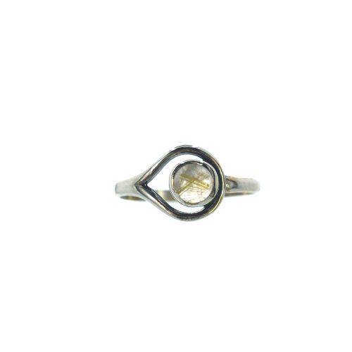 Ασημένιο 925 δαχτυλίδι με καπνιστό χαλαζία