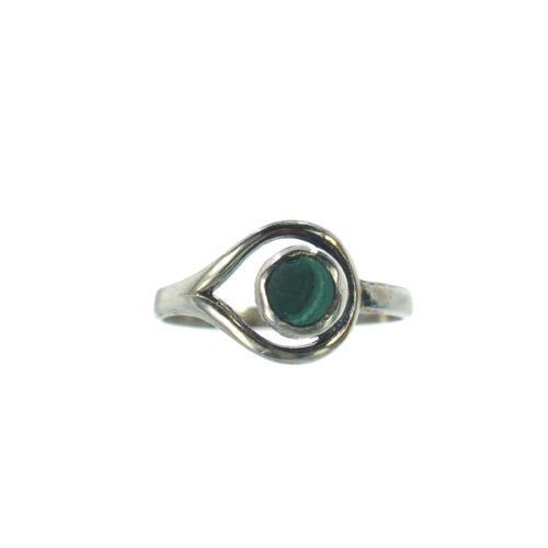 Ασημένιο 925 δαχτυλίδι με μαλαχίτη