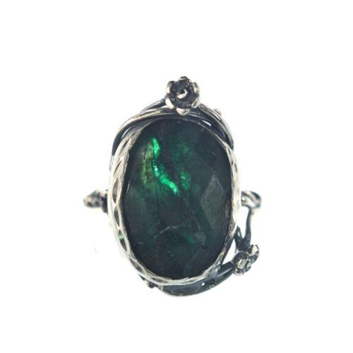 Ασημένιο 925 δαχτυλίδι με νεφρίτη