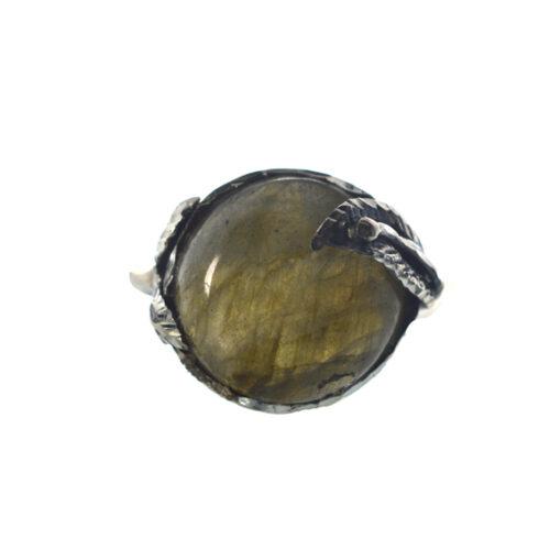 Ασημένιο 925 χειροποίητο δαχτυλίδι με λαμπραντορίτη