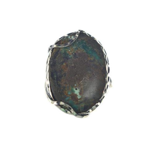 Ασημένιο 925 χειροποίητο δαχτυλίδι με τιρκουάζ
