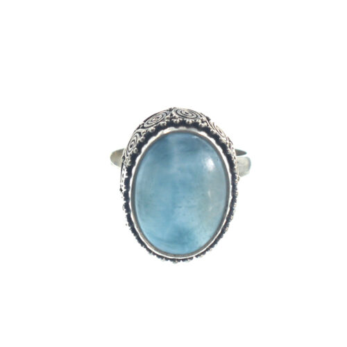 Ασημένιο 925 χειροποίητο δαχτυλίδι με λάριμαρ