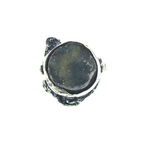 Ασημένιο 925 δαχτυλίδι με ακατέργαστο αχάτη