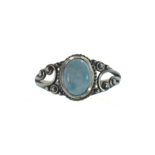 Ασημένιο 925 δαχτυλίδι με λάριμαρ