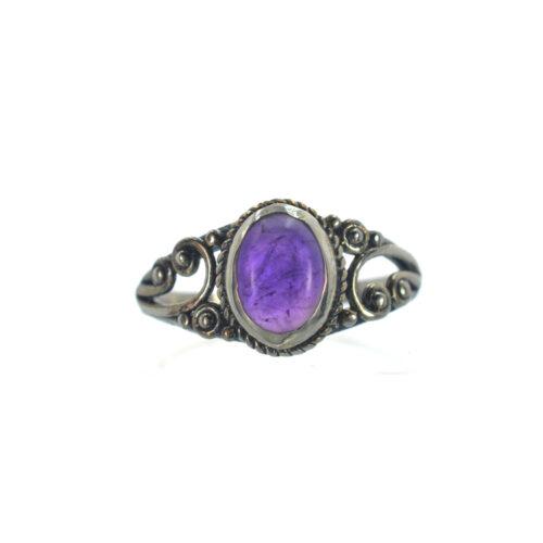 Ασημένιο 925 δαχτυλίδι με αμέθυστο