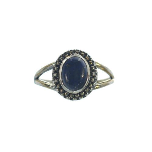 Ασημένιο 925 δαχτυλίδι με λάπις λάζουλι