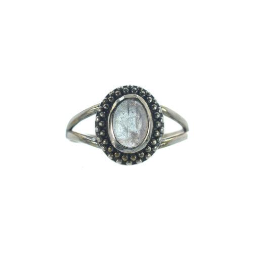 Ασημένιο 925 δαχτυλίδι με λαμπραντορίτη