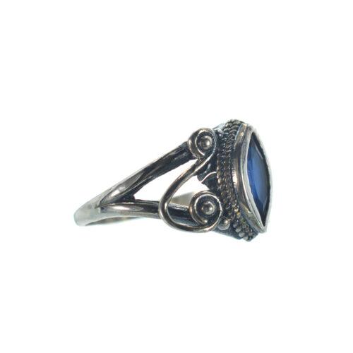 Ασημένιο 925 δαχτυλίδι με μπλε ζιργκόν