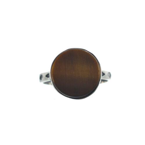 Ασημένιο 925 δαχτυλίδι με μάτι τίγρης