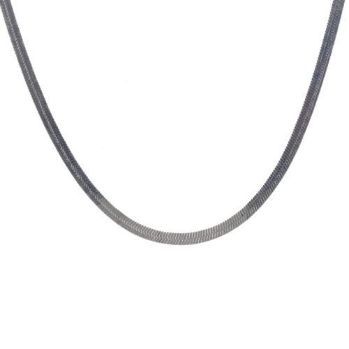 Ασημένια 925 αλυσίδα λαιμού 50 εκατοστών snake